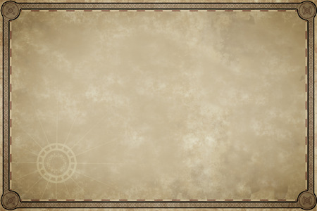 carte trésor: Une image d'un vieux blanc carte de parchemin