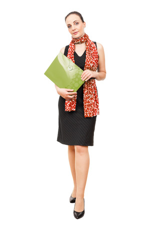 An image of a business woman with a folder photo