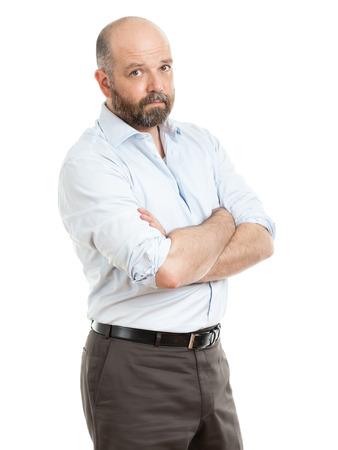 lenguaje corporal: Una imagen de un apuesto hombre de negocios