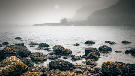 An image of a foggy coast in Ireland photo