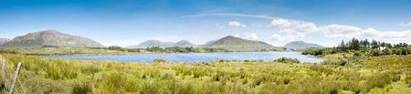 connemara: A panoramic image of the Lough Corrib in Ireland