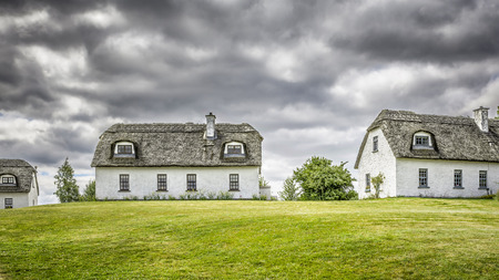 thatched house: A hdr image of three thatched houses in Ireland