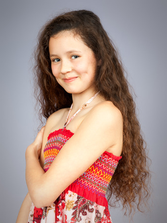 An image of a young girl portrait photo