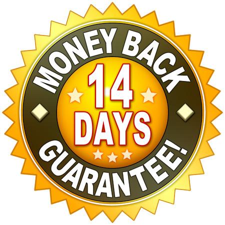 お金の背部保証あなたのウェブサイトのための記号 写真素材