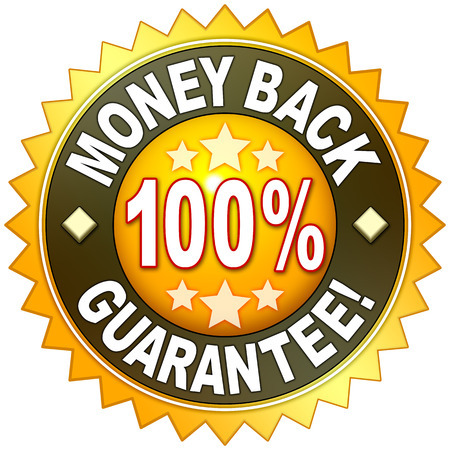 back round: A money back guarantee symbol for your website