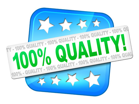 A quality guarantee symbol for your website photo