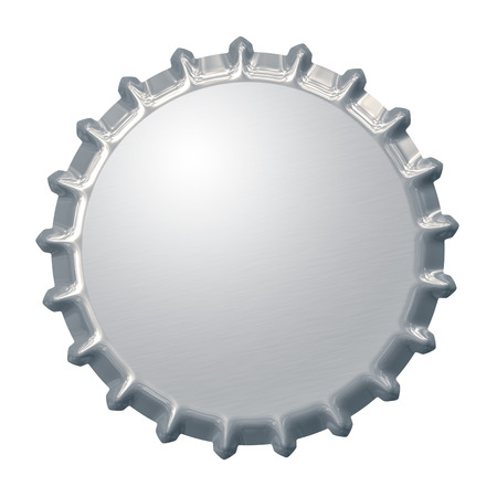 Een afbeelding van een fles dop achtergrond Stockfoto