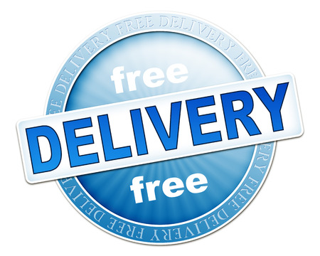 An image of a useful blue free delivery button photo