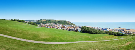hastings: A panoramic view of the historic Hastings in England