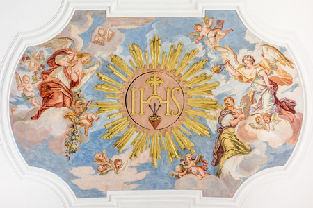 An image of a beautiful religious fresco Stock Photo - 30457736