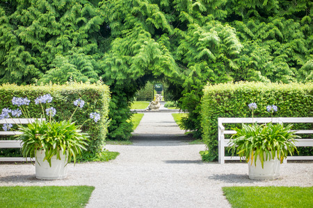 nymphenburg palace: An image of a nice path at Castle Nymphenburg Munich Bavaria Germany