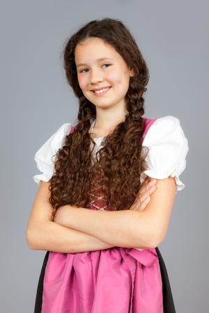 dirndl dress: An image of a sweet traditional bavarian girl