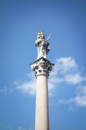 freising: the beautiful Maria Statue in Freising, Bavaria, Germany