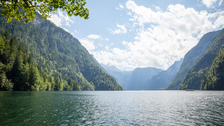places of interest: An image of the Koenigssee Berchtesgaden Bavaria Germany