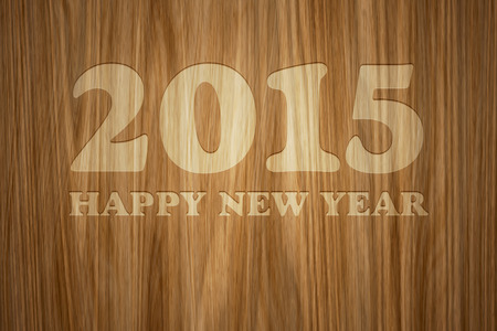 A beautiful wooden background with text 2015 Happy New Year photo
