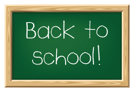 A nice black chalkboard with text back to school photo