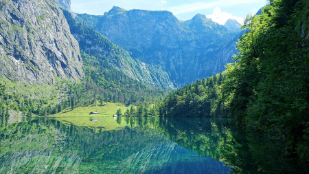 beautiful Obersee in Bavaria Germany photo