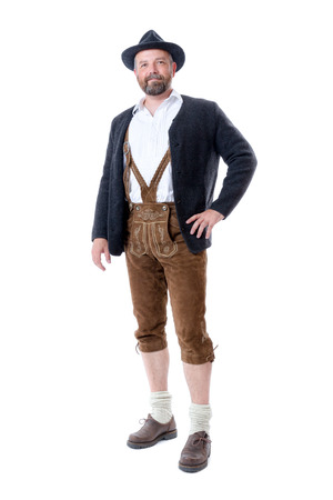 An image of a traditional bavarian man isolated on a white background photo