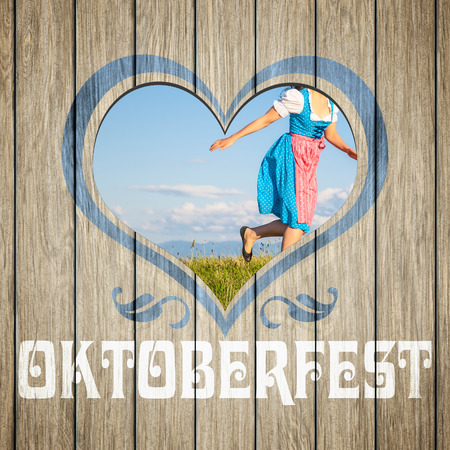 An image of a beautiful wooden heart Oktoberfest photo