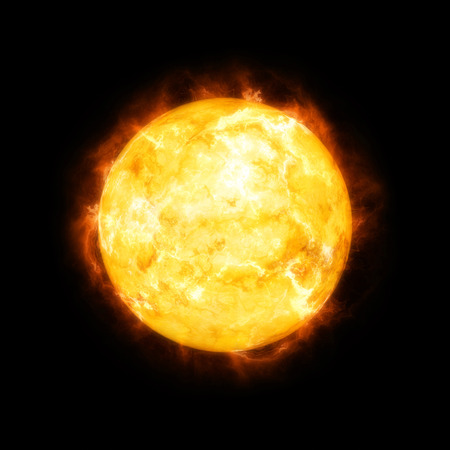 An image of a detailed sun in space
