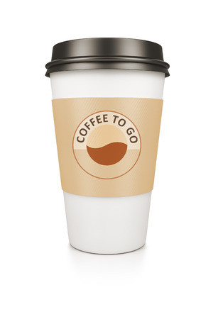 to go cup: A coffee cup isolated on a white background