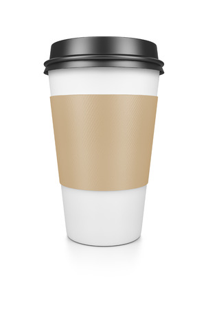 A coffee to go isolated on a white background photo