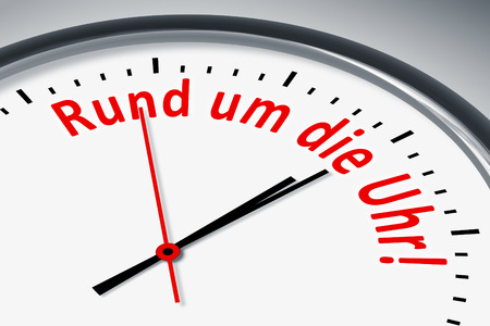 around the clock: A clock with text around the clock!