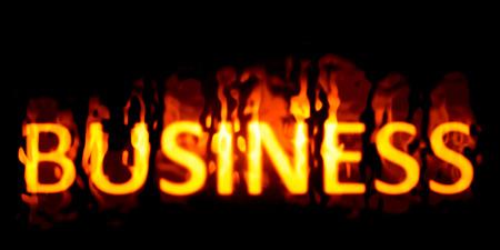 An image of a burning word business Reklamní fotografie - 31908297