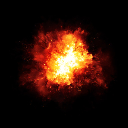 powerful: An image of a nice fire explosion Stock Photo