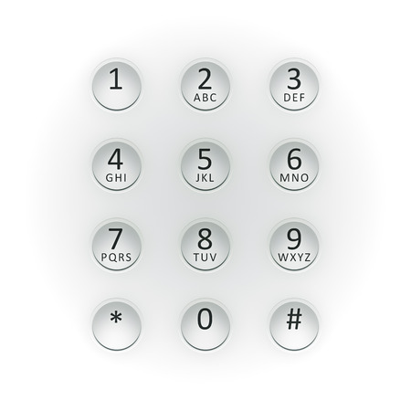 dial plate: An image of a digital dial plate white Stock Photo