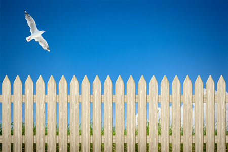 barrier free: An image of a private fence background Stock Photo
