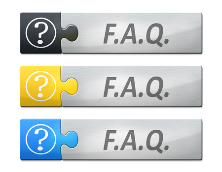 frequently: A stylish web banner with text faq