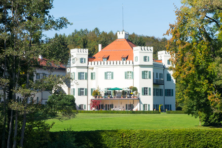sissy: An image of the Sissy Castle at Possenhofen Bavaria Germany Editorial