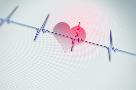 heart rate: An image of a heart rate background