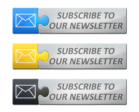 A stylish web banner with text subscribe to our newsletter