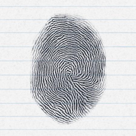 finger proof: An image of a fake finger print