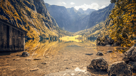 An image of the beautiful Obersee in Bavaria Germany photo