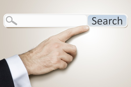 search bar: An image of a man who is searching the web