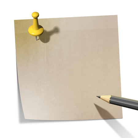 yellow note: A sticky paper with the message with copy-space for your message
