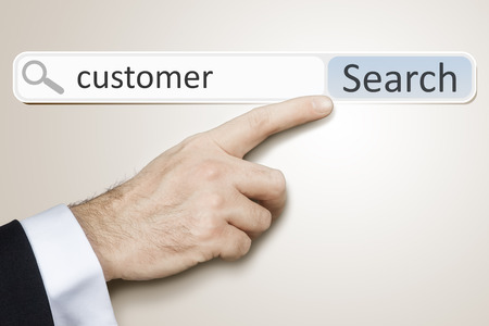 An image of a man who is searching the web after customer photo