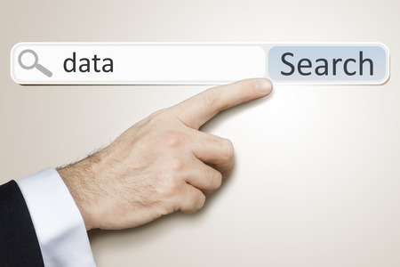 An image of a man who is searching the web after data photo