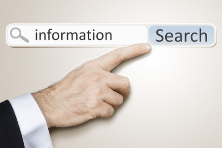 An image of a man who is searching the web after information photo