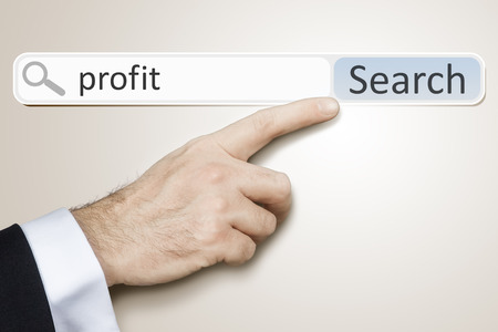 An image of a man who is searching the web after profit photo