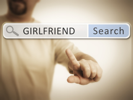 An image of a man who is searching the web after girlfriend photo