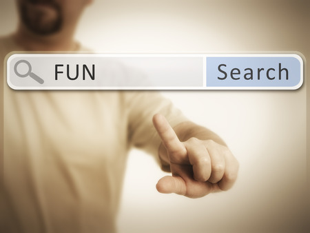 An image of a man who is searching the web after fun photo