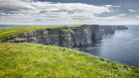 cliff edges: An image of the famous Cliffs of Moher in Ireland