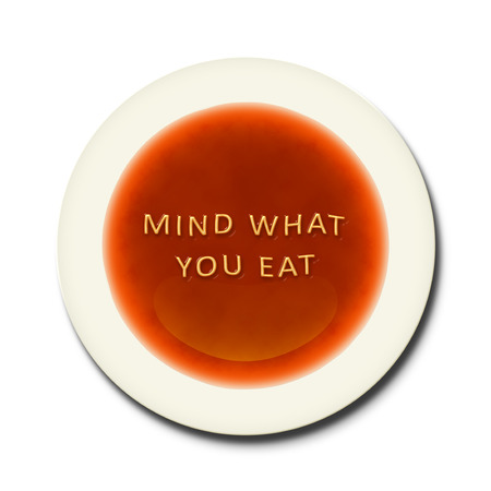 what to eat: An alphabet soup with the words mind what you eat