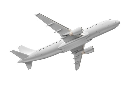 An image of an Airplane isolated on a white background photo