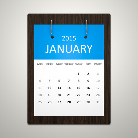 event planning: An image of a stylish calendar for event planning January 2015