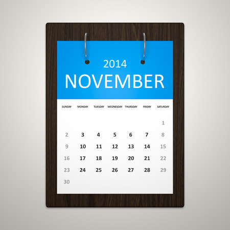 event planning: An image of a stylish calendar for event planning November 2014
